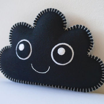 Black Littllle Cloud, Kawaii Cloud, Cloud Softie, Cloud Pillow, Nursery Gift, Nursery Decor, Shower Gift, Baby Shower Gift, Gift Baby