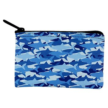Great White Shark Camo Coin Purse