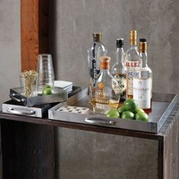 Brushed Steel Tray Collection Set of Three