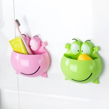 Cute Cartoon Home Bathroom Toothbrush Holder Wall