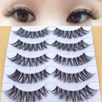 K12 Cross False Eyelashes Naturally High-quality Fiber Handmade Cosmetics Long Fake Eye Lashes