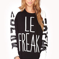 Conversation-Starting Le Freak Sweatshirt