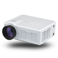 Mini LED Projector - 1080p, 3.5 Inch LCD, 80 Lumen, 30 To 100 Inch Images, 500:1 Contrast, HDMI, USB, AV, TV, VGA Ports (white)