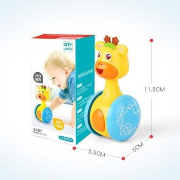 DCCKFS2 Cute Deer Style Tumbler Rattles Roly-Poly Rustle Sound Boxed Toy For Baby Over Three Months