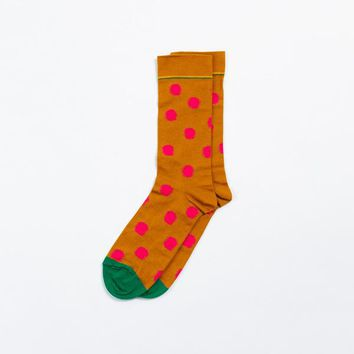 Bonne Maison Cinnamon Polka Dot Socks