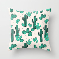 Cactus by Andrea Lauren Throw Pillow by Andrea Lauren Design | Society6