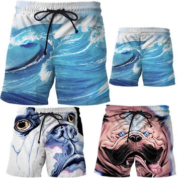 Casual Shorts Men's Surf Boardshorts Swim Personalized 3D printed Beach Pants