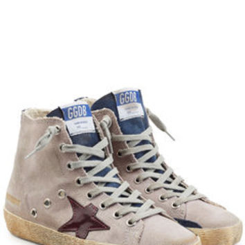 Francy Sneakers with Cotton and Leather - Golden Goose | WOMEN | US STYLEBOP.COM