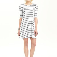 Old Navy Womens Striped Jersey Swing Dresses