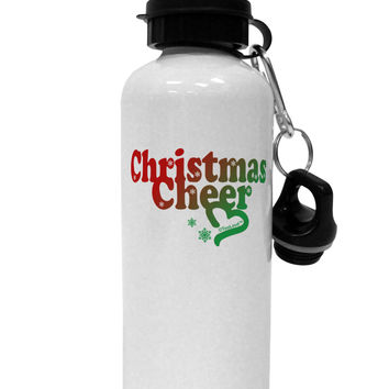 Christmas Cheer Color Aluminum 600ml Water Bottle