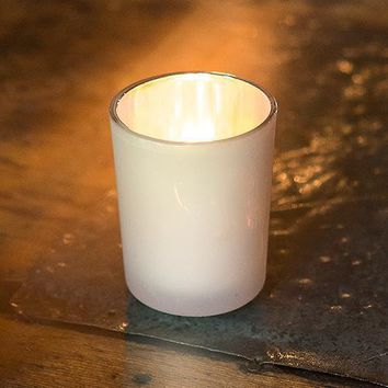 Classic Glass Votive Holder Peach (Pack of 6)