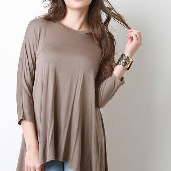 Trapeze High-Low Yoke Top