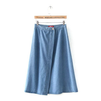 Women's Fashion Stylish Denim Skirt [4919624068]