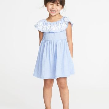 Fit & Flare Off-the-Shoulder Dress for Toddler Girls |old-navy