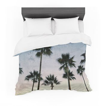"Richard Casillas ""Paradise Palms "" Blue Pink Featherweight Duvet Cover"