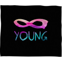 Jacqueline Maldonado Forever Young 2 Fleece Throw Blanket