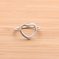 OPEN HEART ring in sterling silver by bythecoco on Zibbet