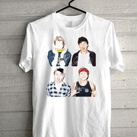 5 SOS collage, 5 second of summer, 5 SOS  print Funny shirt for t shirt mens and t shirt girl size s, m, l, xl, xxl