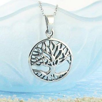 Steadfast Tree of Life Necklace in Sterling Silver