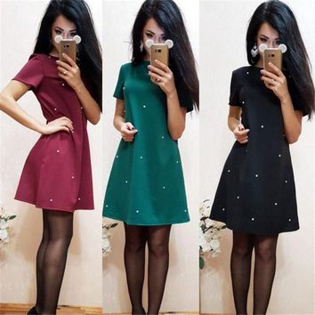 New Arrival 2017 Women's Fashion Sexy Short Sleeved Dress Ukraine Style Ladies Party Dresses Kimono Cheap Clothes China