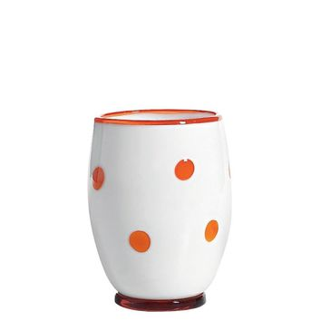 Bon Bon Tumblers S/2 | White and Orange