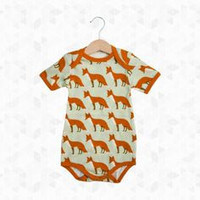 3-6 MTHS Zebi Baby One Piece Orange Fox
