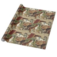 TEE Curious Cat Wrapping Paper