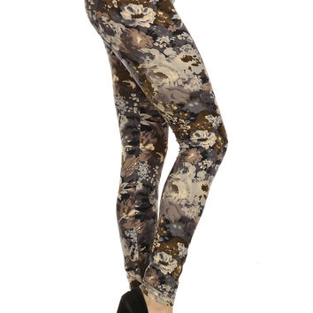 Always Strech Greystone Flowers Printed Quality Tights