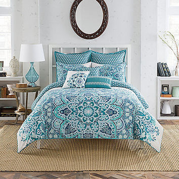 Anthology® Kaya Reversible Duvet Cover Set in Blue