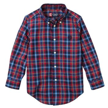Chaps Plaid Button-Down Shirt - Toddler, Size: