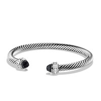 Cable Classics Bracelet with Black Onyx and Diamonds - David Yurman