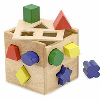 Melissa & Doug Shape Sorting Cube Learning Game