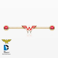 Golden Wonder Woman Sparkle Industrial Barbell