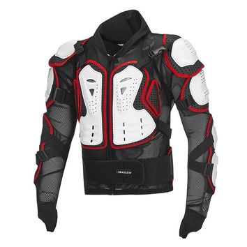 Trendy Motorcycle moto reflective armor jacket full body armour protective gear vest racing clothing turtle jackets AT_94_13