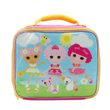 Cute Cartoon Lalaloopsy Girls Lunch Bag for Kids School Lunch Box Messenger Bag Lunchbox Lunchbag Children Picnic Food Bags