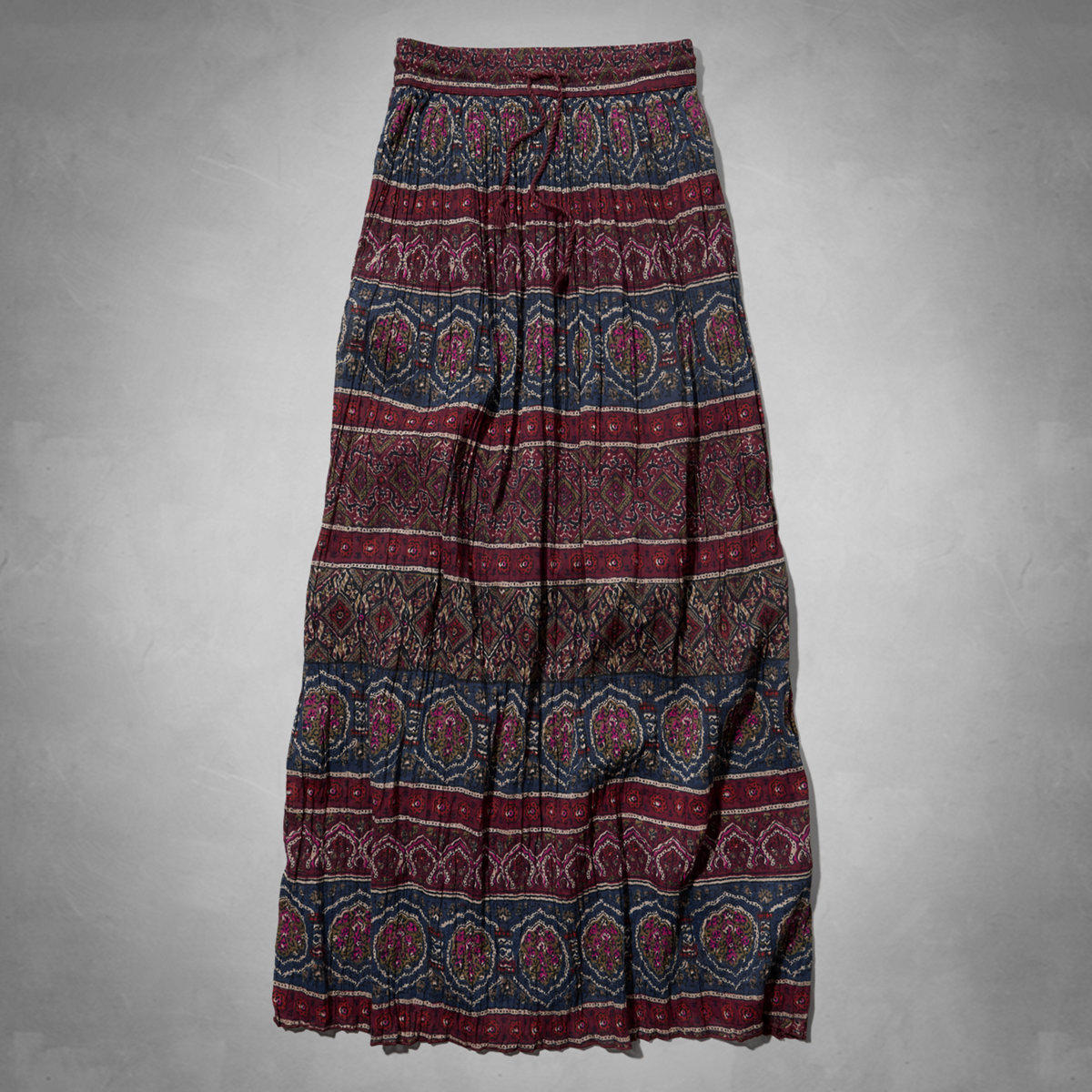 pattern pleated maxi skirt from abercrombie fitch