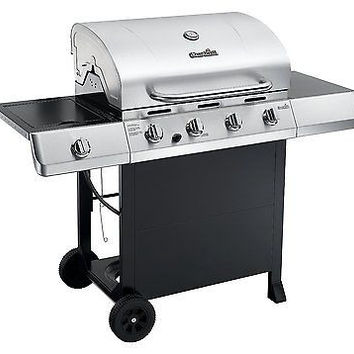 Char-Broil Classic 4 Burner Gas Grill Side Burner Barbecue BBQ Stainless Steel