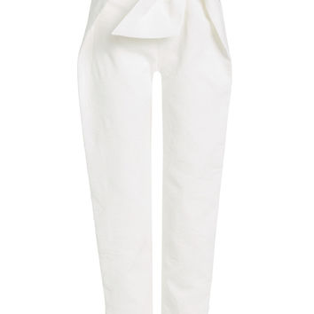 Bow-Front Cotton Trousers - Delpozo | WOMEN | KR STYLEBOP.COM