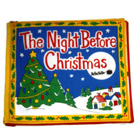 The Night Before Christmas - A Soft Cloth Children's Book using Princess Fabric Inc. fabrics in bold and bright colors