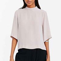 Silence + Noise Relaxed Funnel Neck Blouse-