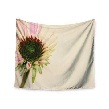 "Sylvia Coomes ""Pink And Yellow Flower"" Blush Floral Wall Tapestry"
