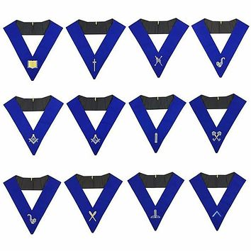 Lodge Officers Machine Embroidery Collars (1 unit)