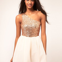 ASOS Skater Dress with Sequin Top