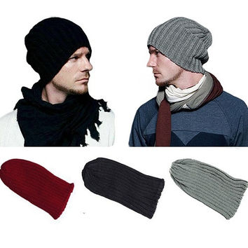 New Unisex Men Women Practical Soft Hip-Hop Warm Winter Wool Knit Ski Beanie Skull Cap Hat GIL = 1958210692