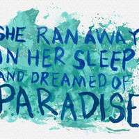 """She Dreamed of Paradise""-Coldplay Art Print by Fabfari 