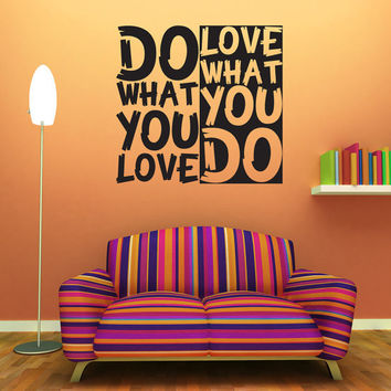 Wall Decal Quote Text Vinyl Sticker Home Decor Art Mural   Do what you love. Best Rasta Art Products on Wanelo