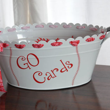 Go Cards/ Cadinals/ St. Louis/ Beverage Tub/ White/ Drink Tub