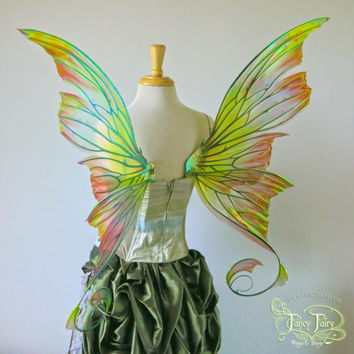 Large Aphrodite Iridescent fairy wings as seen on the cover of FAE Magazine, made to order