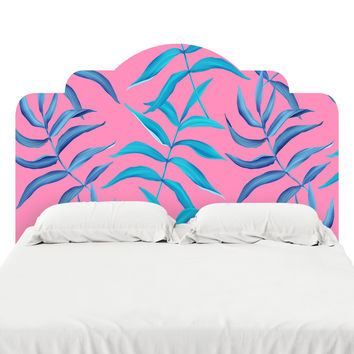 Neon Palms Headboard Decal