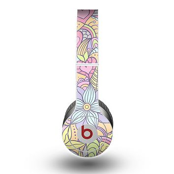 The Vibrant Color Floral Pattern Skin for the Beats by Dre Original Solo-Solo HD Headphones